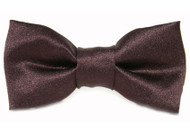 Brown Satin Bow Tie for Dogs