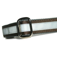 Reflective Dog Collar in Chocolate Brown