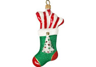 Christmas Stocking Glass Christmas Ornament