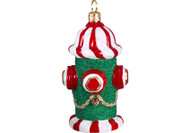 Fire Hydrant Glass Christmas Ornament