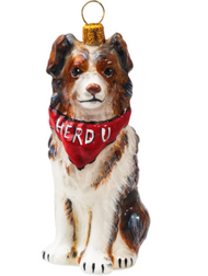 Australian Shepherd with Bandana Christmas Ornament