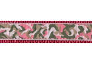 Camo Dog Collar and Leash (Pink)