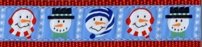 Frosty Snowman Dog Collar and Leash