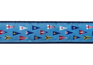 Yacht Club Burgee Dog Collar and Leash