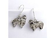 Sterling Silver Sheltie Earrings