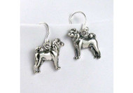 Sterling Silver Shiba Inu Earrings