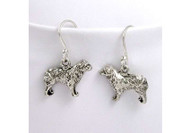 Sterling Silver Australian Shepherd Earrings