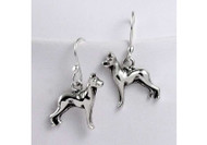 Sterling Silver Great Dane Earrings