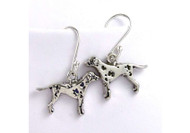 Sterling Silver Dalmatian Earrings