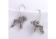 Sterling Silver Schnauzer Earrings