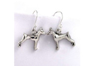 Sterling Silver Doberman Pinscher Earrings