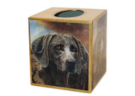Weimaraner Decoupage Tissue Box