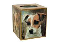 Jack Russell Decoupage Tissue Box
