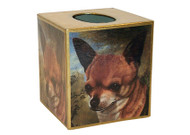 Chihuahua Decoupage Tissue Box
