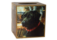 Black Lab Decoupage Tissue Box