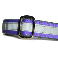 Reflective Dog Collar in Grape