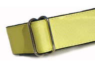 Martingale Dog Collar in Lemon Yellow Grosgrain Ribbon