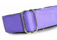 Martingale Dog Collar in Purple Grape Grosgrain Ribbon