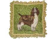 Springer Spaniel Needlepoint Pillow (# 3)