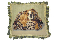 Bulldog Needlepoint Pillow (# 3)
