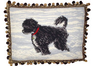 Portuguese Water Dog Needlepoint Pillow (# 3)