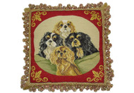 Cavalier King Charles Spaniels Needlepoint Pillow