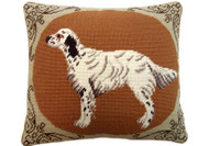 English Setter Needlepoint Pillow
