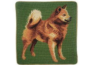 Finnish Spitz Needlepoint Pillow