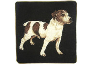 Jack Russell Needlepoint Pillow on Black