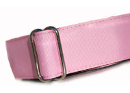 Martingale Dog Collar in Pink Blush Grosgrain Ribbon