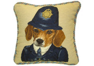 Beagle Dressed Needlepoint Pillow