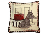 Scottie with Shoes Needlepoint Pillow