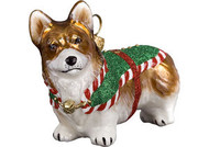 Corgi Santa's Little Yelper Christmas Ornament