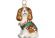 Cavalier King Charles Santa's Little Yelper Christmas Ornament
