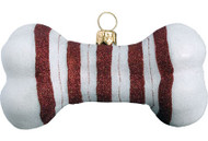 Candy Cane Dog Bone Ornament