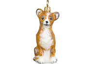 Chihuahua Glass Christmas Ornament