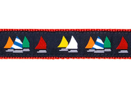 Sailboats Dog Collar and Leash (Rainbow Fleet)
