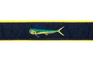 Mahi Mahi Dog Collar and Leash (Navy)