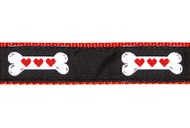 Heart Bone Dog Collar and Leash