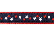 Patriotic Stars Dog Collar and Leash (Navy)