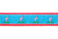 Pink Flamingo Dog Collar and Leash