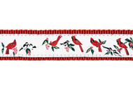 Cardinal Dog Collar and Leash