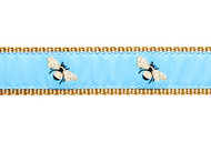 Bumble Bee Dog Collar and Leash (Sky Blue)