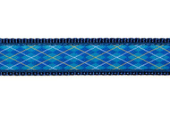 Argyle Dog Collar and Leash (Blue)