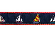 Sailboats Dog Collar and Leash (4 Boats)