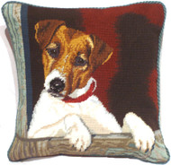 Jack Russell Needlepoint Pillow (# 3)