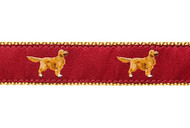 Golden Retriever Dog Collar & Leash