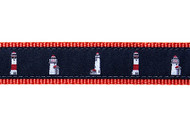 Nantucket Lighthouse Dog Collar & Leash