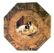 Jack Russell Decoupage Plate (# 2)