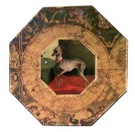 Italian Greyhound Decoupage Plate (# 2)